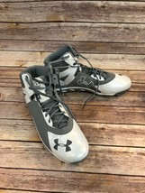 Under Armour Baseball Cleats Spine Clutch Fit 1250042-021 Gray White 13 - $29.03
