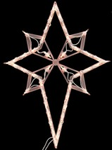 "22"" Lighted Star of Bethlehem Christmas Window Silhouette Decoration - £11.08 GBP"