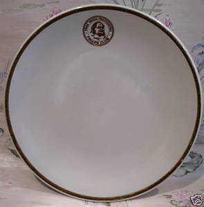 Jackson China FRIARS CLUB PLATE NEW YORK NY. Souvenir Collector Plate Vintage