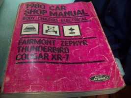 OEM 1980 Ford Car Shop Manual - Body/Chassis/Electrical - Cougar Thunder... - $9.89