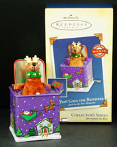 Hallmark Ornament POP! GOES THE REINDEER Jack in the Box Memories 2005 NIB - $21.95