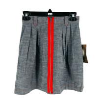 Jack BB Dakota Women's Gray & Red A-Line Skirt Size 2 NEW - $14.85