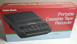 Radio Shack Vintage CTR-66 Portable Cassette Tape Recorder