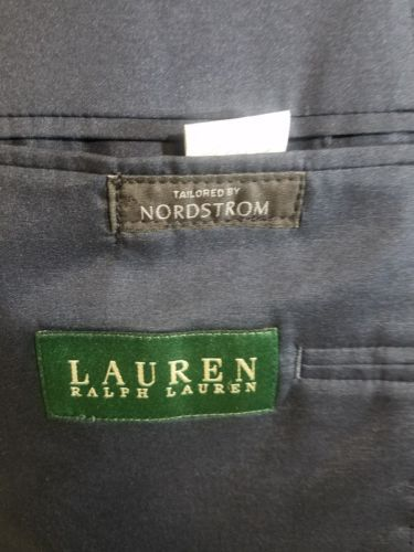 LAUREN RALPH LAUREN MENS BLAZER 100% WOOL NORDSTROM BLUE 42L TWO-BUTTON RN-69456