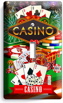 CASINO ROULETTE KRAPS POKER SINGLE LIGHT SWITCH WALL COVER MAN CAVE ROOM... - $8.97