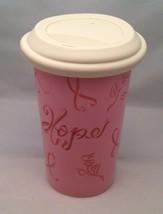 Set of 2 Longaberger Pottery Stoneware Horizon of Hope Travel Cup / Mug - $34.30