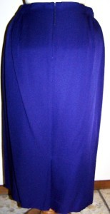 NEW w/ TAGS VINTAGE SANDRA OW-WING NR1 3 PIECE ROYAL PURPLE RAYON SKIRT SUIT 12