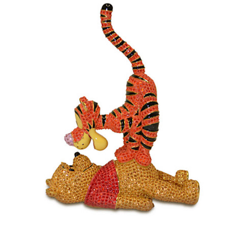 Disney Winnie the Pooh and Tigger Jeweled Figurine by Arribas New LE 500