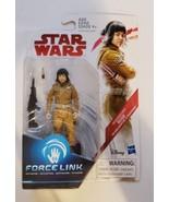 Star Wars Action Figure Forcelink Resistance Tech Rose Fighter Hasbro 2017 - $1.25