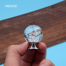 YNIZHURE 30mm Transparent Crystal Glass Bubble Ball Dresser Drawer Cabinet Wardr - $35.95