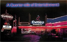 Chrome Postcard NV G306 Las Vegas Quarter Mile of Entertainment Stardust... - $7.50