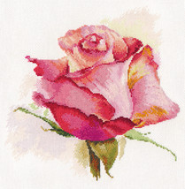 Cross Stitch Kit Hand Embroidery Rose Flowers - $33.90