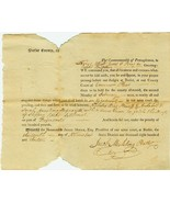 1813 Court Summons SLIPPERY ROCK Settlement, Pe... - $8.00