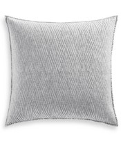 Hotel Collection Lateral Quilted European Sham, Gray - $41.58