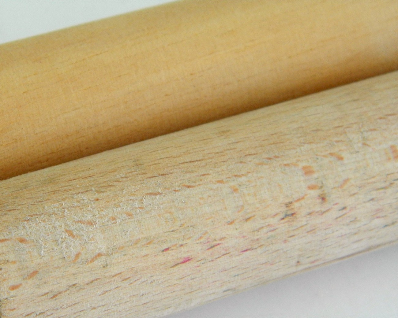 Vintage Toy Rolling Pins Red Handled Wood Wooden Child 1950s