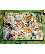 IT'S ZOOLOGICAL JUNGLE ANIMALS QUILT FABRIC PANEL - $14.99