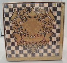 MacKenzie Childs Coat of Arms Paper Napkins BLA... - $21.78
