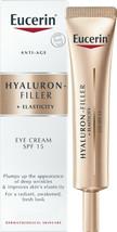 Eucerin Hyaluron-Filler + Elasticity Eye SPF 15 anti-age eye cream 15ml - $34.65