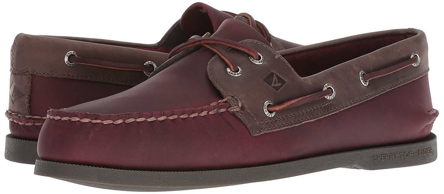 Primary image for Men's Sperry Top-Sider A/Original 2-Eye Pullup Boat Shoe, STS18312 Sizes BurgGre