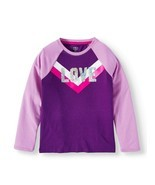 Athletic Works ~ Girl's Size Medium (7/8) Top ~ Purple w/Silver Sequins ... - $15.84