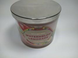 Bath & Body Works Watermelon Lemonade Large 3 Wick Scented Candle 14.5 oz Jar - $34.99