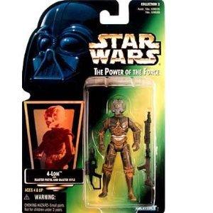 Star Wars POTF 4-LOM action figure (green holo card)
