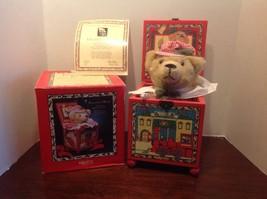 """Enesco """"Engineer Bear"""" Yuletide Teddy Musical Jack-In-The-Box by Pat Fye 1988 - $99.00"""