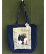 """Large Cat Art Denim Tote Bag  - """"Homer and Rudy"""" - $45.00"""