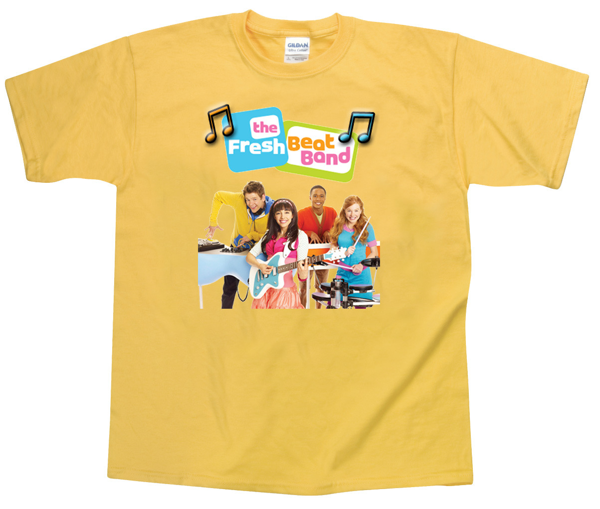 Personalized Custom Fresh Beat Band Yellow Birthday T-Shirt Gift Add Name #5