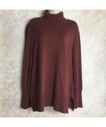 Soft Surroundings Size PL Petite Large Rust Turtleneck Sweater Womens Fall - $33.32
