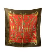 Authentic Hermes Vintage Tan & Red Silk Scarf Alphabet III 1990 Annie Fa... - $381.15
