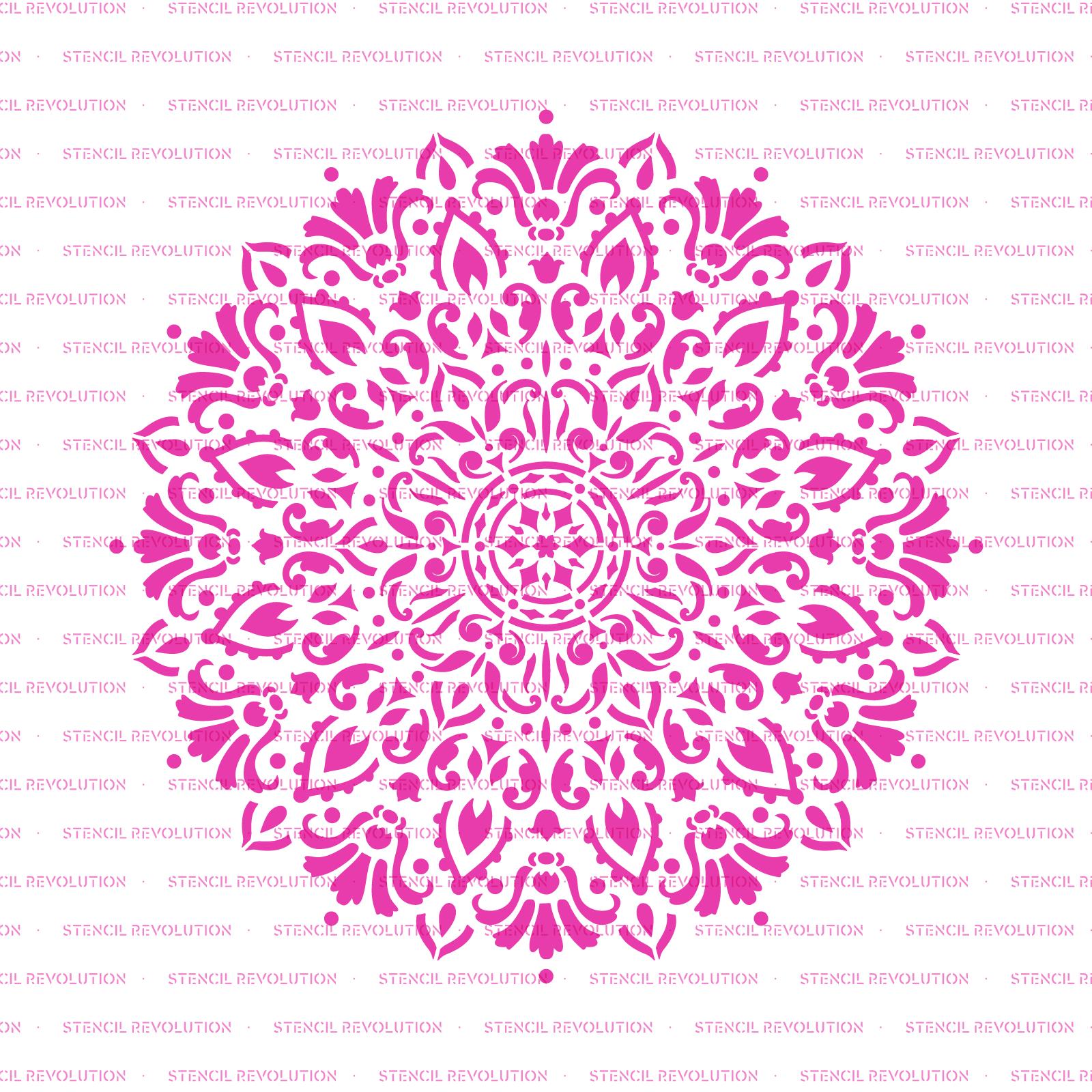 Harmony Mandala Stencil - Reusable Stencils of Harmony Mandala in Multiple Sizes