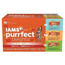 IAMS PURRFECT DELIGHTS Pate Adult Wet Cat Food, Variety Pack Salmon, Chi... - $12.90