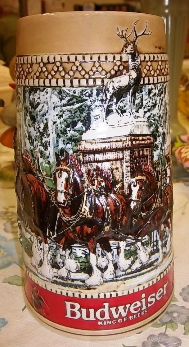 "Primary image for Anheuser-Busch, Inc. Budweiser Stein ""C"" Series #22 dtd 1987 Limited Ed. Collect"