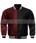 Letterman Baseball College Varsity Bomber Jacket Sports Wear Maroon Blac... - $49.98+