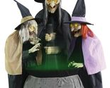 Halloween Animated THREE STITCH WITCH SISTERS WITH CAULDRON Prop Haunted House - $4.950,50 MXN
