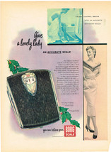 Willys Car & Borg Scale Bathroom Weight Magazine Advertisments Vintage 1953 - $12.86