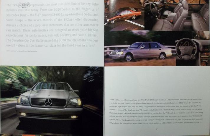 1997 Mercedes-Benz S Class, E Class, C Class, SL Brochure