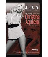CHRISTINA AGUILERA PROMO CARD, LAX Las Vegas - $4.95