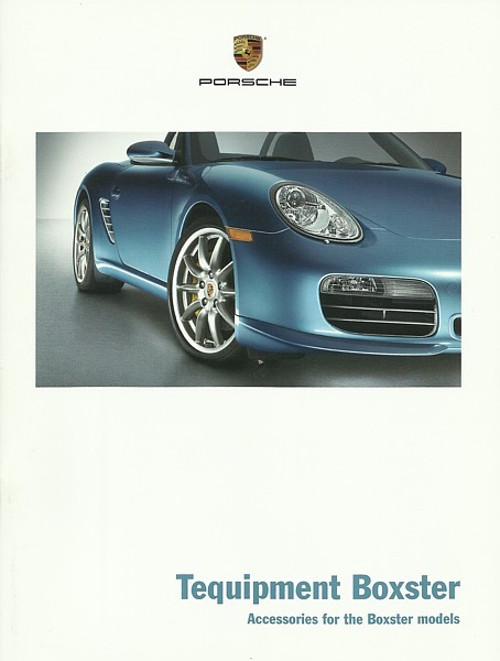 2009/2010 Porsche BOXSTER Tequipment parts accessories brochure catalog US 09
