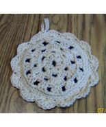 Blueberry Pie Hot Pad, Crochet, Handmade, Kitchen Decor, Double Thick, Gift - $13.00