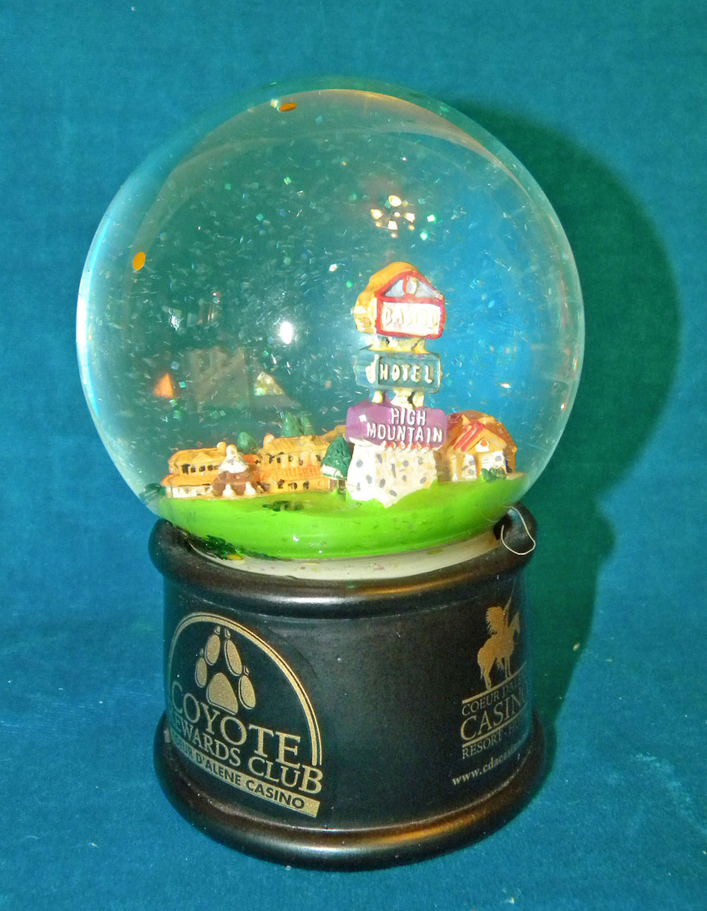 Primary image for Coeur d'Alene Idaho casino snow globe snowdome  2008