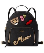 NWT KATE SPADE RUN WILD LEOPARD TOMI BACKPACK SAFFIANO LEATHER BLACK - $113.84