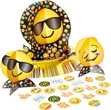 LOL Emoji Emoticons Cute Kids Birthday Party Table Decorating Kit - $11.66