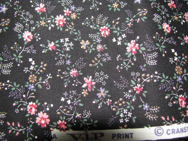 Vintage VIP Cranston Sm Pink Flowers 1   yd Fabric