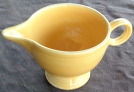 Vintage Fiesta Yellow Footed Creamer Ring Handle - VGC - HLC  COLLECTIBL... - $19.79