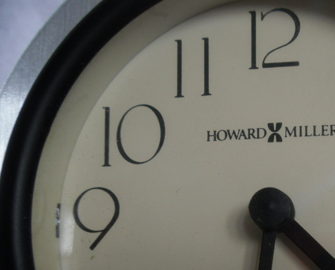 Primary image for DESK CLOCK - Howard Miller - Arched Brushed Aluminum