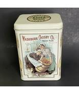 "Washburn Crosby Gold Medal Flour Tin 8.75"" Beige Minneapolis Minnesota  - $9.50"