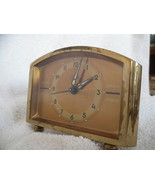VINTAGE ALARM CLOCK - Bradley Time Corporation Gold - $20.00