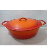 Descoware Orange Flame 4.5 Qt Dutch Oven w Lid Cast Iron Enamel 12 3-C V... - $63.70